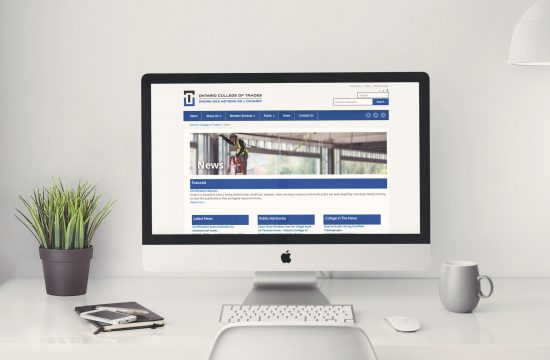 Ontario College of Trades website on desktop