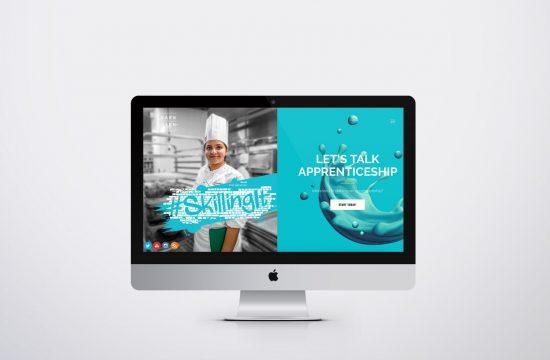 Earn While You Learn website on desktop
