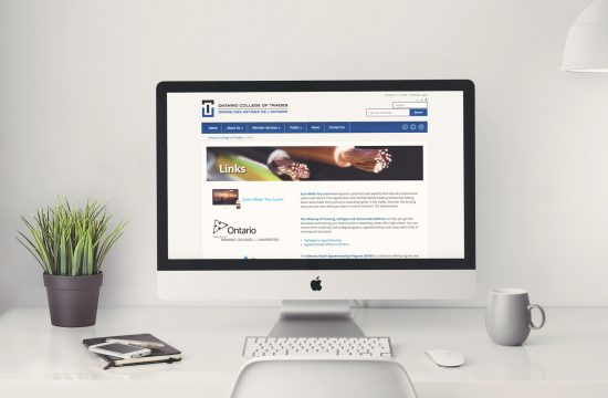 Ontario College of Trades website on desktop